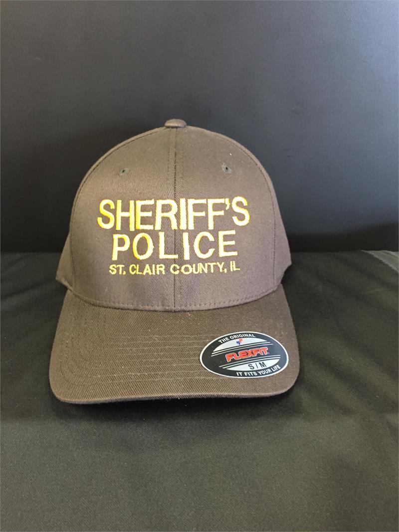 6196c7d031e Sheriff s Police Baseball Cap Brown Gold